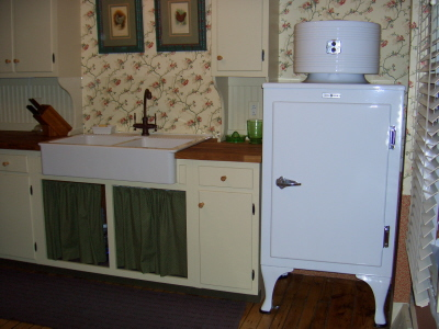 Kitchen Sink and Refrigerator